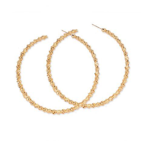 Mode or creux grand cercle boucles d'oreilles boucles d'oreilles pour femmes boucles d'oreilles créoles en gros nihaojewelry NHCT244567's discount tags