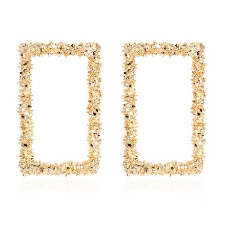 fashion geometric square alloy plating earrings retro gold earrings wholesale nihaojewelry NHCT244569's discount tags