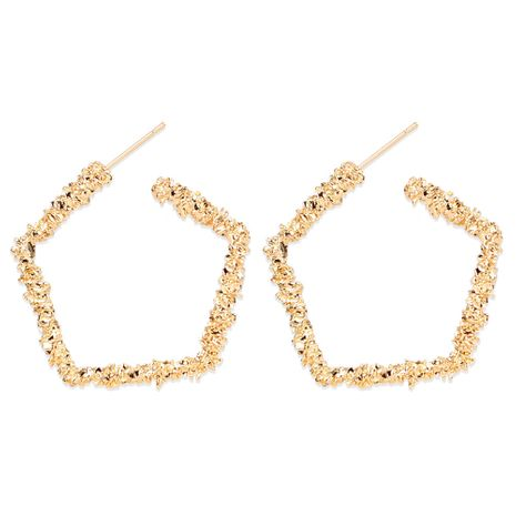 retro alloy geometric pentagon exaggerated style earrings wholesale nihaojewelry NHCT244571's discount tags