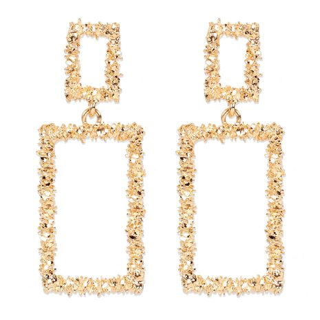 geometric hollow alloy plating  all-match earrings wholesale nihaojewelry NHCT244574's discount tags