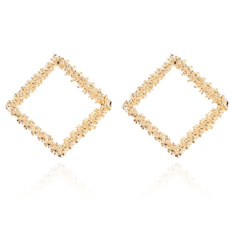fashion alloy electroplating geometric square earrings retro style earrings wholesale nihaojewelry NHCT244576's discount tags