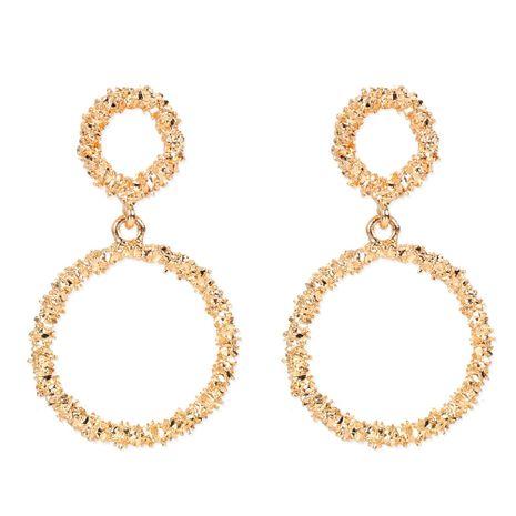 alliage rétro placage géométrique boucles d'oreilles rondes mode dames boucles d'oreilles en gros nihaojewelry NHCT244577's discount tags