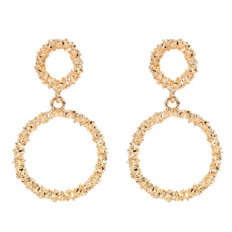 retro alloy plating geometric round earrings fashion ladies earrings wholesale nihaojewelry NHCT244577's discount tags