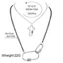 Collier pendentif torsad en spirale  double couche avec mousqueton en argent de mode pour les femmes NHCT244579