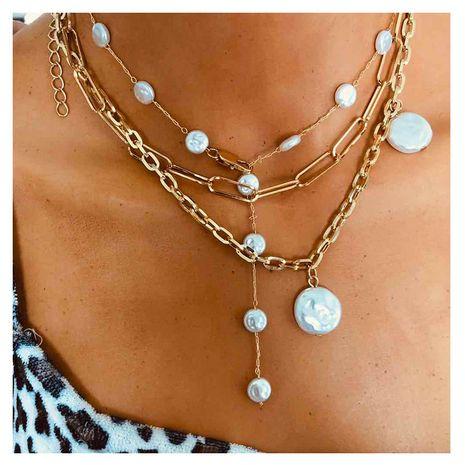 Moda versátil collar de perlas de múltiples capas simples y de forma especial al por mayor NHCT244587's discount tags