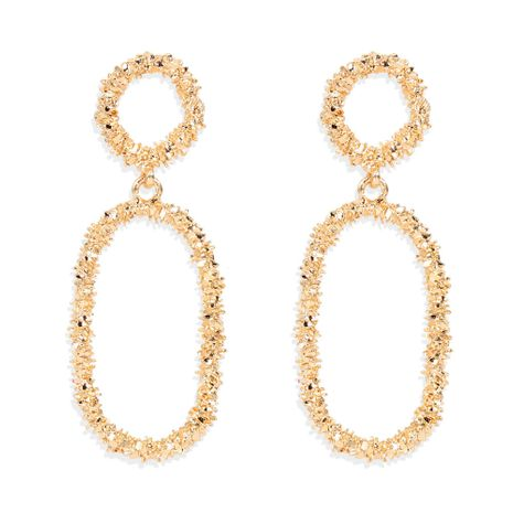 fashion alloy plating earrings exaggerated geometric hollow earrings wholesale nihaojewelry NHCT244593's discount tags