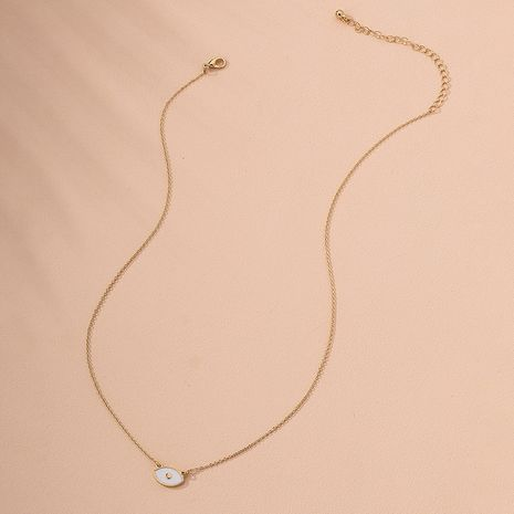 Korean niche design eye ring alloy clavicle chain for women wholesale  NHAI244595's discount tags