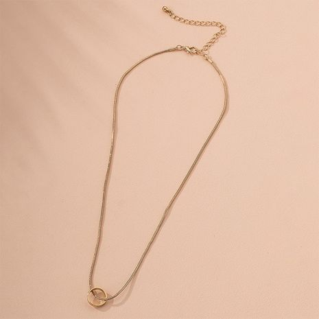 Fashion niche  trendy simple ring circle alloy clavicle chain for women wholesale NHAI244597's discount tags