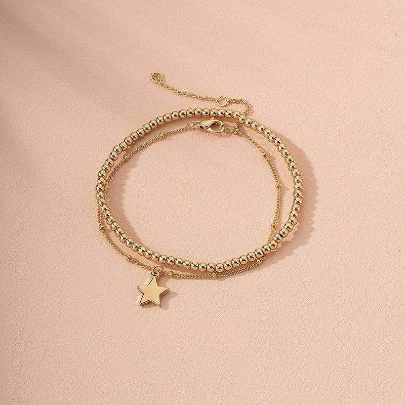 Fashion niche simple star alloy bracelet for women jewelry wholesale  NHAI244605