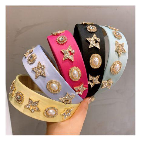Korea  retro macaron candy color rhinestone stars  headband NHHD244609's discount tags