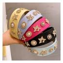 Korea  retro macaron candy color rhinestone stars  headband NHHD244609