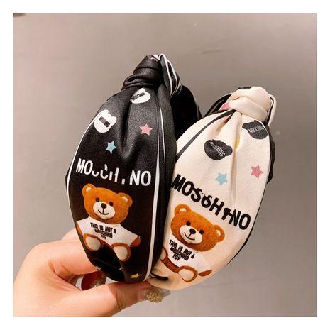 Korea   retro cartoon cute bear  wide-brimmed headband  NHHD244615's discount tags