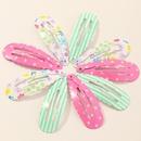 candy color girl cute polka dot starfish flower side clip wholesale nihaojewelry NHAU244641