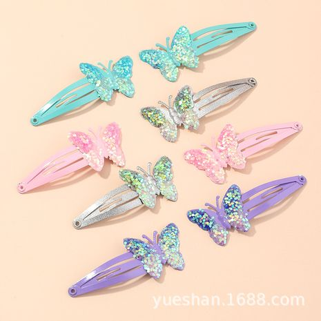 Korean new sequined butterfly bb clip children's cute bow hairpin headgear wholesale NHNU244676's discount tags