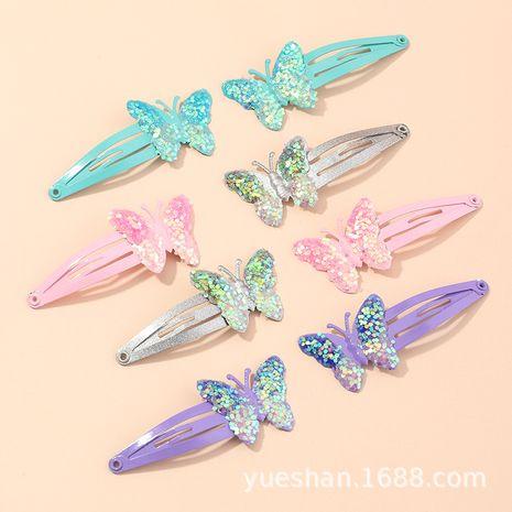 Nuevo coreano con lentejuelas mariposa bb clip niños lindo arco horquilla tocado al por mayor NHNU244676's discount tags