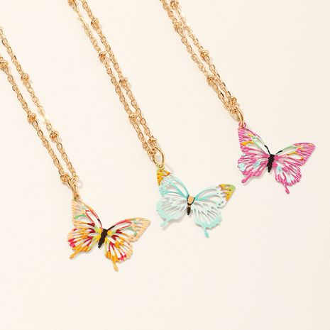 Korean butterfly necklace short clavicle chain simple jewelry wholesale nihaojewelry NHNU244683's discount tags