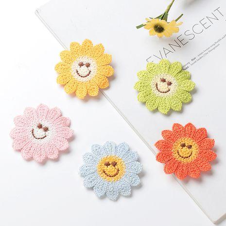 Nuevas niñas pegatinas para el cabello dulce al por mayor de punto pegatinas de flores lindas pegatinas mágicas accesorios para el cabello NHNU244684's discount tags
