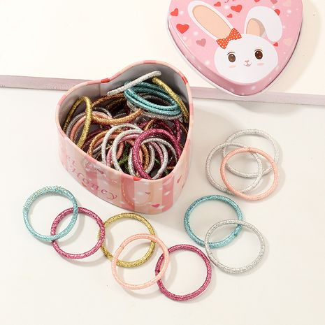 Moda 50 bandas de goma para niños de colores lindo básico color caramelo juego de cuerdas para el cabello NHNU244685's discount tags