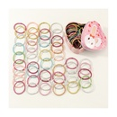 Mode 50 lastiques pour enfants colors mignons ensemble de corde de cheveux de couleur bonbon de base NHNU244685