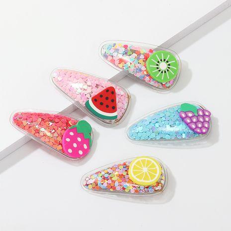 Coreano arenas movedizas horquilla de frutas niños bb clip lateral pequeño tocado de color transparente fresco bebé lindo clip lateral NHNU244686's discount tags