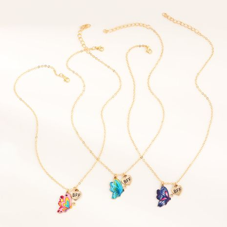 colorful butterfly set hot new dripping necklace  wholesale  NHNU244691's discount tags