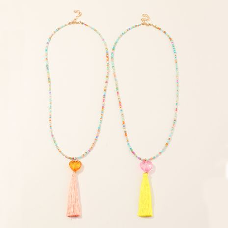 Tassel Fashion Decoration Love Star Tassel Color Children's Necklaces wholesale nihaojewelry NHNU244696's discount tags