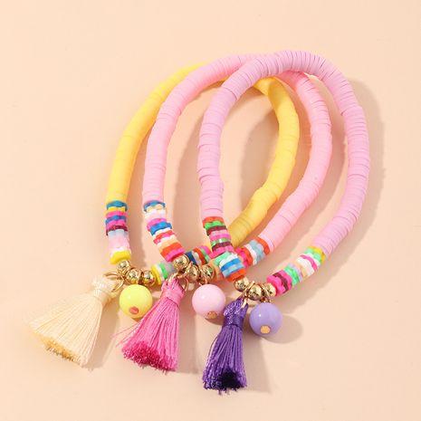Children's Korea color bohemian ethnic style elastic rice beads bracelet  wholesale nihaojewelry NHNU244697's discount tags