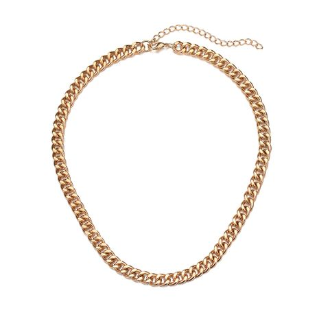 hot selling jewelry simple chain short necklace metal clavicle chain  NHOA244707's discount tags