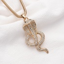 collier de serpent de diamant simple en alliage long en mtal exagr de vente chaude NHOA244708