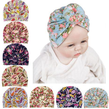 chapeaux pour enfants chapeaux floraux casquettes de bouton de boule de bébé en gros nihaojewelry NHWO244715's discount tags