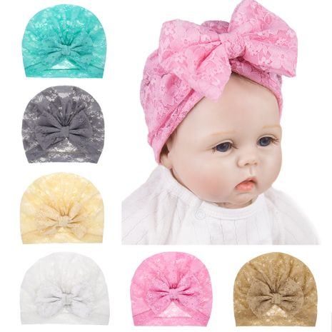 fashion children's lace hat bowknot lace hood hat wholesale nihaojewelry NHWO244717's discount tags
