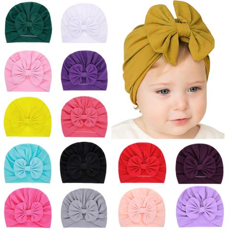 children's solid color hats bowknot caps solid color tire caps wholesale nihaojewelry NHWO244718's discount tags