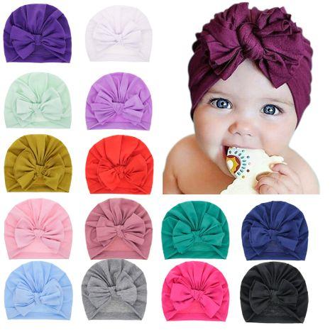 chapeau pour enfants bébé capuche bébé complexe multicouche arc casquette foetale en gros nihaojewelry NHWO244719's discount tags
