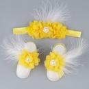 Baby children chiffon flower head flower foot flower footband wholesale nihaojewelry NHWO244723