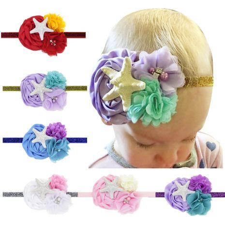 hot-selling children's starfish elastic headgear princess ocean starfish headband wholesale nihaojewelry NHWO244724's discount tags