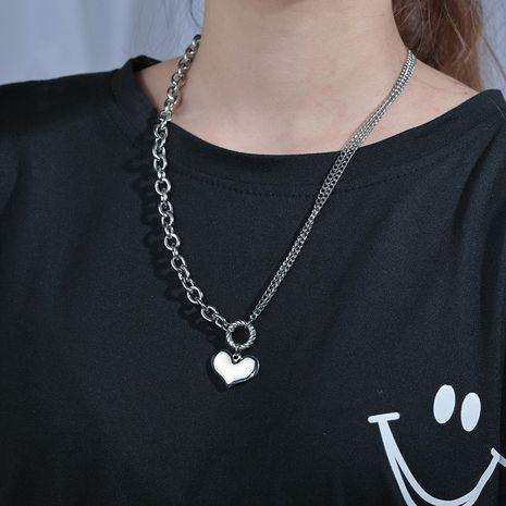 acier inoxydable en forme de coeur amour vente chaude collier de chaîne de clavicule simple pour les femmes NHHF244310's discount tags