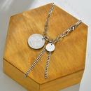 Fashion titanium steel round hip hop  fishtail clavicle chain  NHHF244320