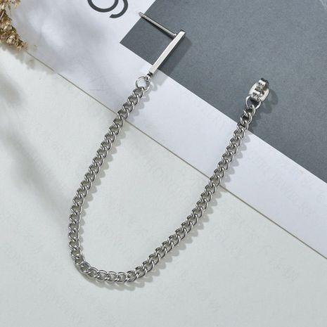 geometric chain simple retro earrings chain titanium steel earrings wholesale nihaojewelry NHHF244331's discount tags