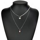 Collier de bijoux papillon  double couche  la mode pour femmes NHHF244336