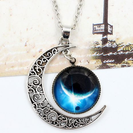 hot sale starry sky moon time gem necklace jewelry wholesale NHDP244362's discount tags