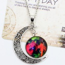 hot sale starry sky moon time gem necklace jewelry wholesale NHDP244362