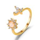 vente chaude bague de tournesol opale rveur simple anneau ouvert papillon doux en gros nihaojewelry NHDP244366