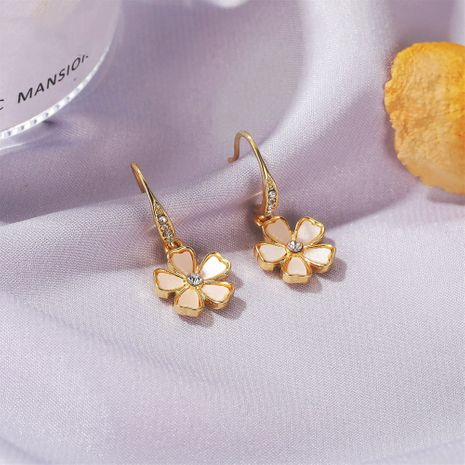 Korean flower Mori series five petal simple small earrings wholesale nihaojewelry NHDP244375's discount tags