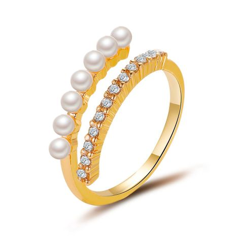 Baroque pearl ring simple literary design sense opening ring wholesale nihaojewelry NHDP244380's discount tags