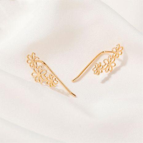 hot selling simple flower earrings hollow small flower ear clip earrings wholesale nihaojewelry NHDP244382's discount tags