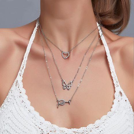 Nouvelle vente chaude 3 couches papillon verre à vin combinaison multicouche alliage pendentif collier NHDP244395's discount tags