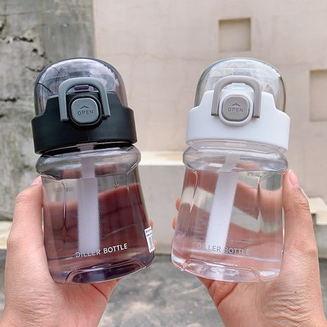 portable handle large-capacity sports take-away leak-proof cover with graduated straw water bottle  NHtn244818's discount tags