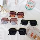 New big frame square elegant brown trendy sunglasses for women NHBA244833