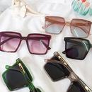 Korean big square frame new trendy black couple street retro sunglasses NHBA244842