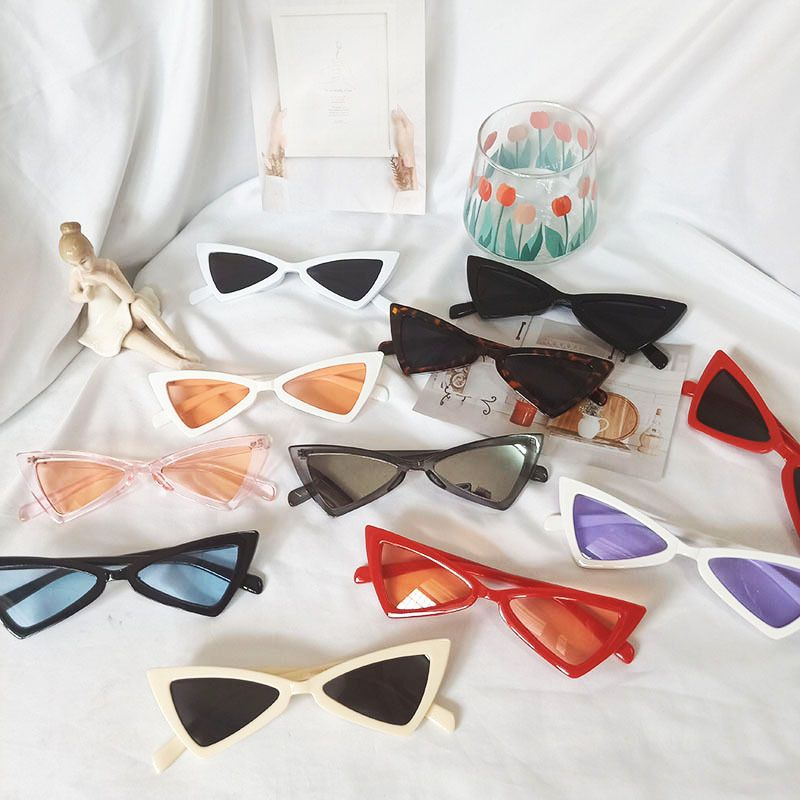 Korean trendy triangle cat-eye butterfly sunglasses for women wholesale NHBA244843